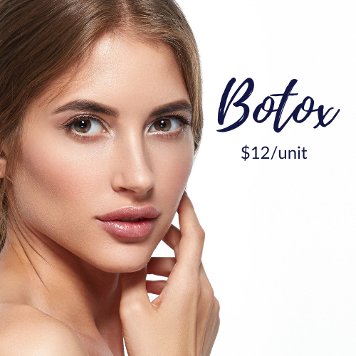 Botox. Treat expression lines of forehead, frown lines, and crow's feet.